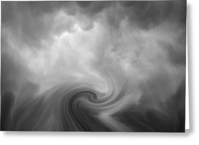 Swirl Wave Vi Greeting Card by David Gordon