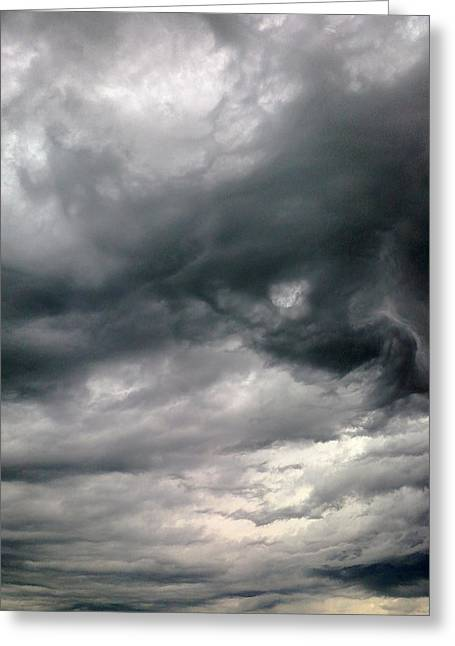 Swirling Clouds Greeting Card by Stephen Doughten