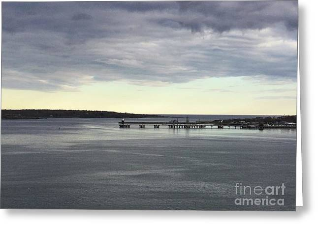 Swirling Currents On Casco Bay Greeting Card
