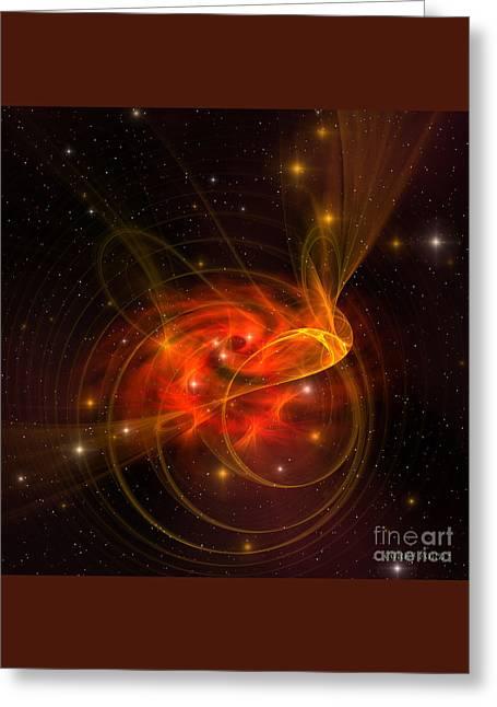 Swirling Galaxy Greeting Card
