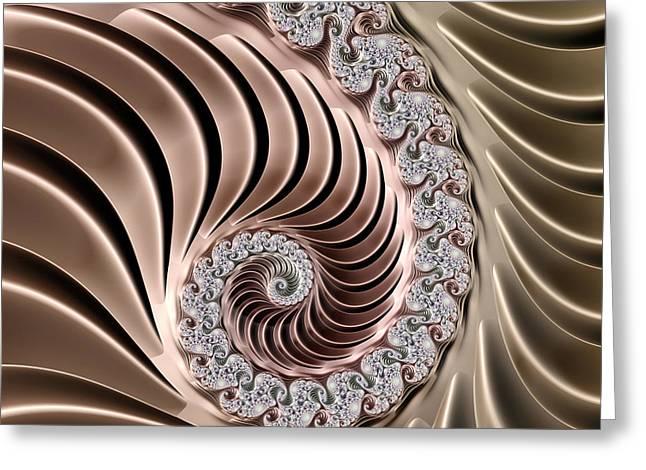 Swirling Lace Greeting Card by Georgiana Romanovna