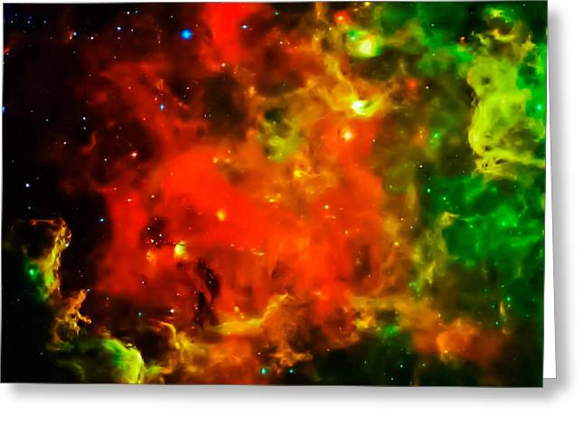 Swirling Landscape Of Stars Greeting Card