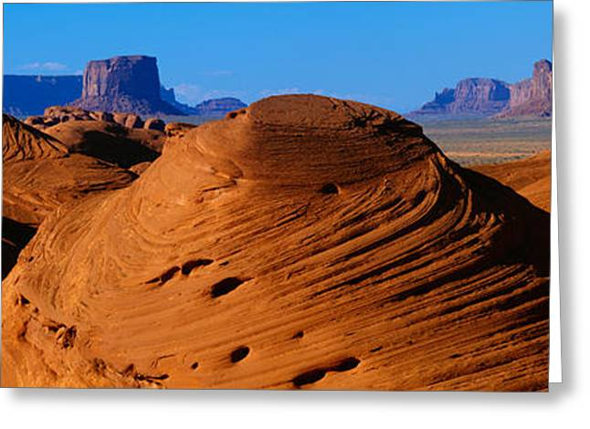 Swirling Sandstone Formations, Monument Greeting Card by Panoramic Images