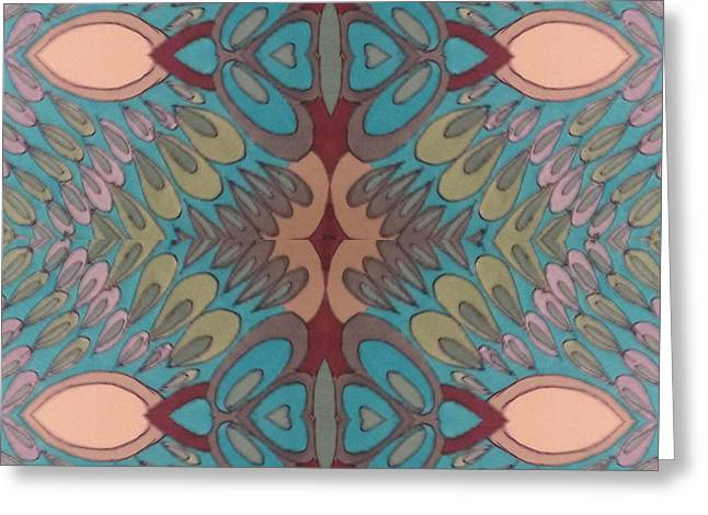 Swirls 11 20 16 Greeting Card by Modern Metro Patterns and Textiles