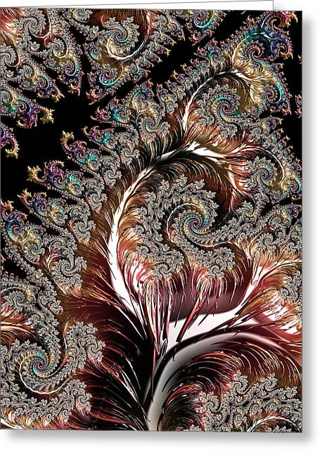 Swirls And Roots Greeting Card