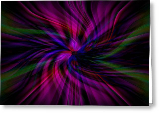 Greeting Card featuring the photograph Swirls by Cherie Duran