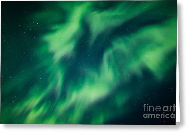 Swirls Of Light Greeting Card