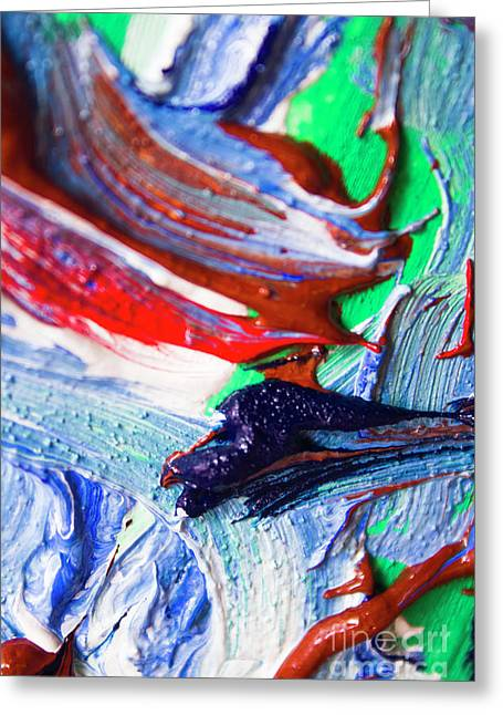 Swirls Of Paint Colors Greeting Card