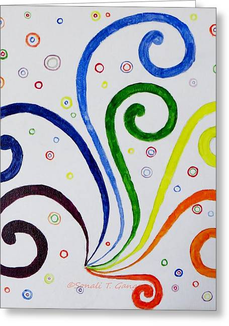 Swirls Greeting Card by Sonali Gangane