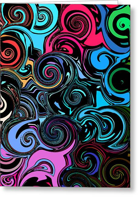 Swirly Abstract 1 Greeting Card by Chris Butler