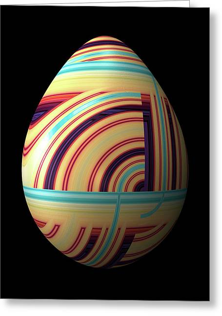 Swirly Easter Egg Greeting Card