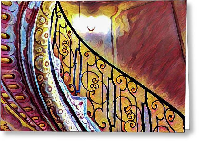 Swirly Spiral Staircase Greeting Card