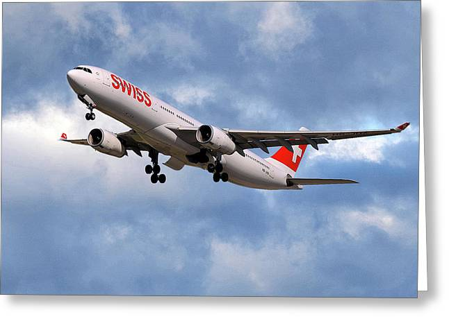 Swiss Airbus A330-343 Greeting Card