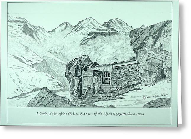 Swiss Alpine Cabin Greeting Card