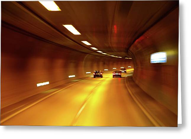 Greeting Card featuring the photograph Swiss Alpine Tunnel by KG Thienemann