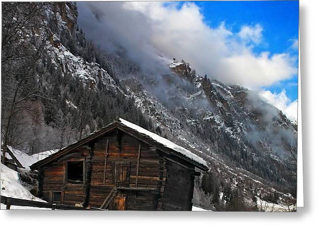 Swiss Barn Greeting Card
