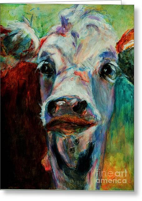 Swiss Cow - 1 Greeting Card