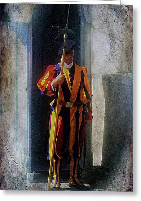 Swiss Guard , Vatican City Greeting Card by Brian Lukas