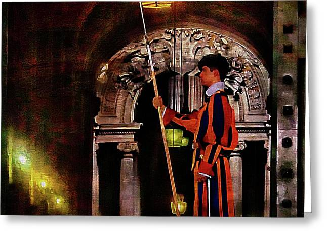 Swiss Guard Greeting Card by Brian Lukas