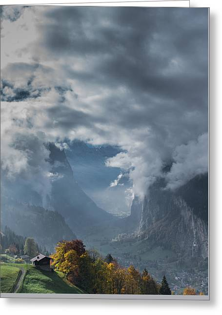 Swiss Heaven Greeting Card by Scott Hafer