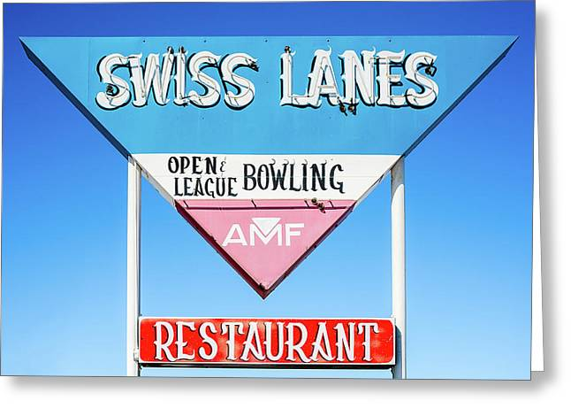 Swiss Lanes Greeting Card by Todd Klassy