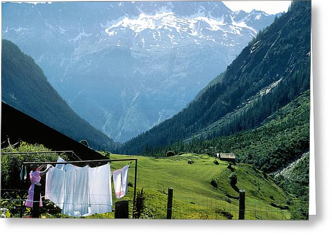 Swiss Laundry Greeting Card