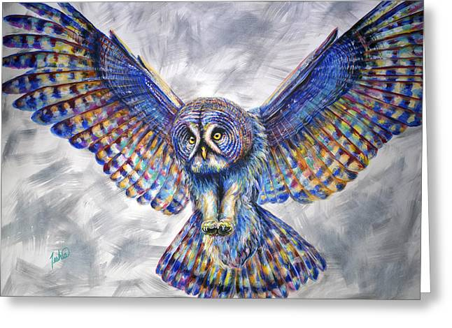 Swoop Greeting Card by Teshia Art
