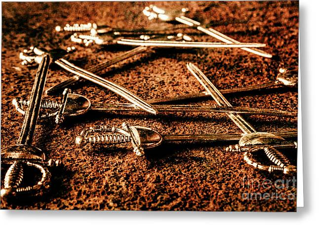 Swords And Knight Fights Greeting Card by Jorgo Photography - Wall Art Gallery