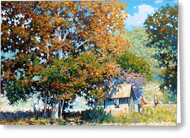 Sycamores With Tallow Greeting Card by Kevin Lawrence Leveque