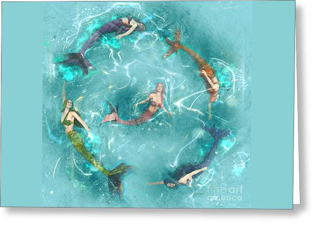 Sychronized Swimming Greeting Card