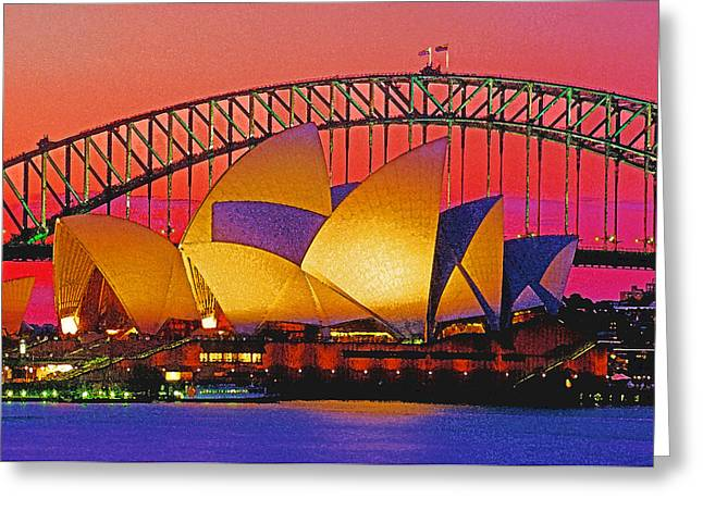 Sydney Architecture Greeting Card by Dennis Cox WorldViews