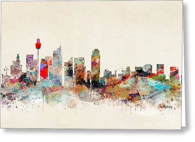 Greeting Card featuring the painting Sydney Australia by Bri B