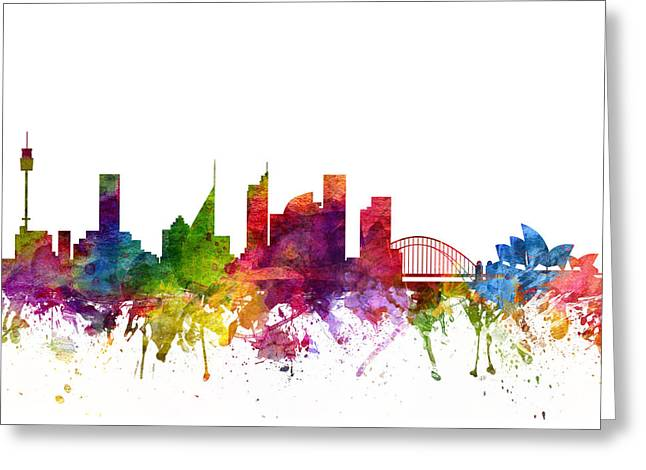 Sydney Australia Cityscape 06 Greeting Card by Aged Pixel