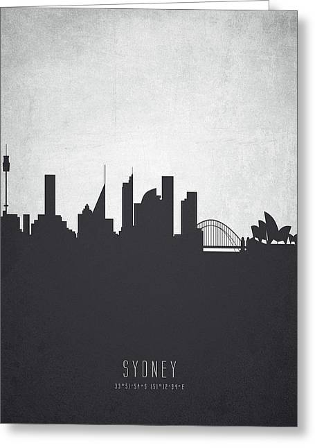 Sydney Australia Cityscape 19 Greeting Card by Aged Pixel