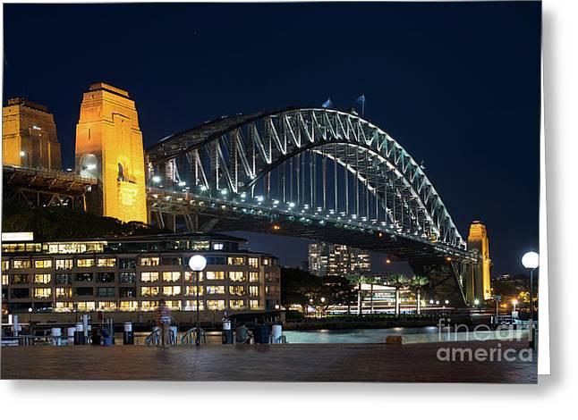 Sydney Bridge Greeting Card by Andrew Michael