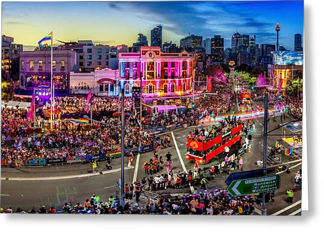 Sydney Gay And Lesbian Mardi Gras Parade Greeting Card