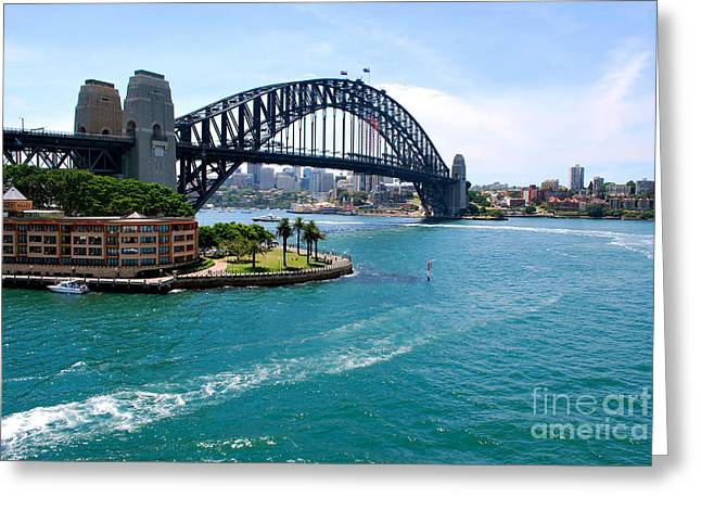 Sydney Harbor Bridge Greeting Card by Johanne Peale