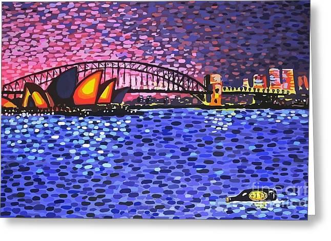 Sydney Harbour Greeting Card by Alan Hogan