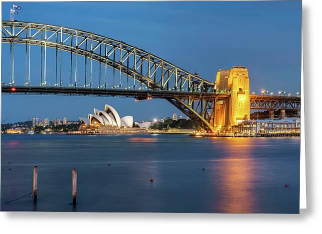 Sydney Harbour At Dusk Greeting Card