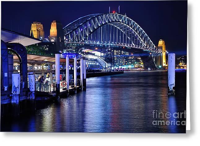 Sydney Harbour Blue By Kaye Menner Greeting Card