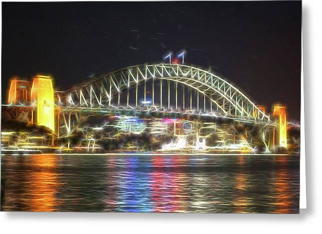 Sydney Harbour Bridge - Dm Greeting Card by Bruce