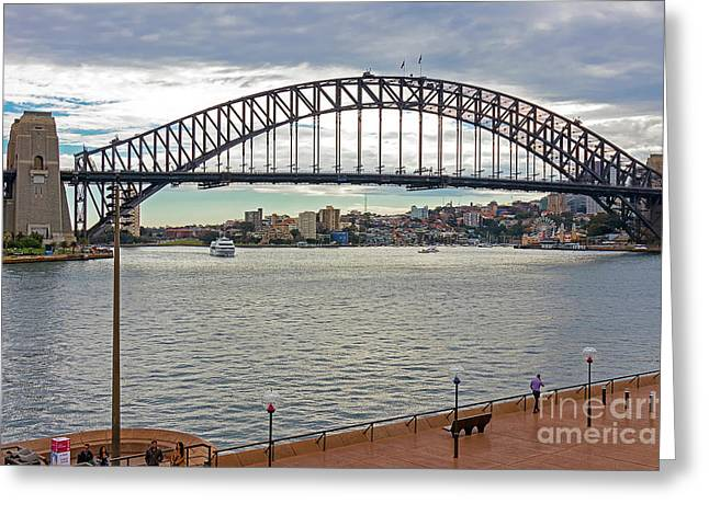 Greeting Card featuring the photograph Sydney Harbour Bridge by Elaine Teague