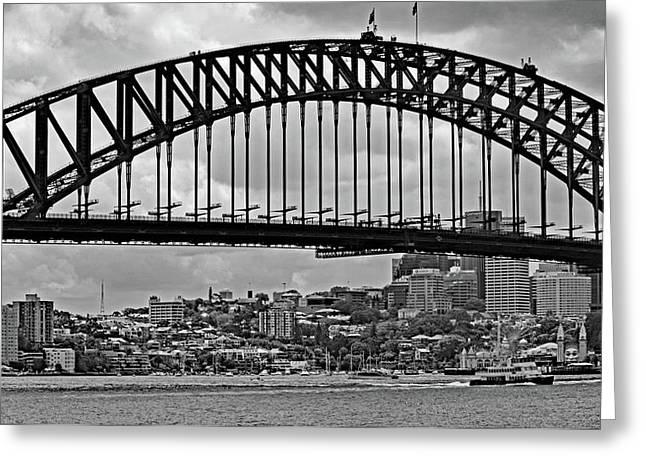 Sydney Harbour Bridge No. 15-1 Greeting Card by Sandy Taylor
