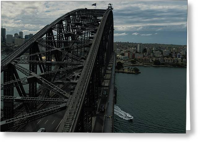 Sydney Harbour Bridge View From Tower Greeting Card
