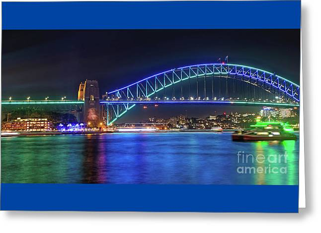 Greeting Card featuring the photograph Sydney Harbour Green And Blue By Kaye Menner by Kaye Menner