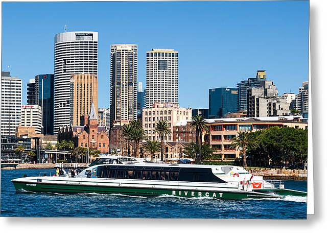Sydney Harbour Greeting Card by Niel Morley