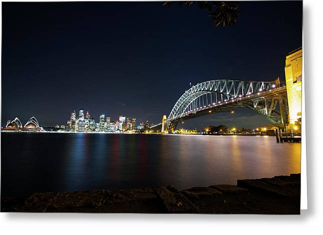 Sydney Harbour Silk Greeting Card