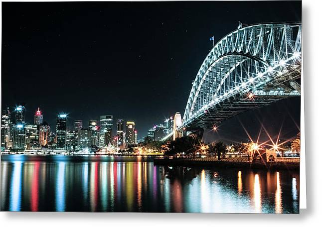 Sydney Harbour Sparkle Greeting Card