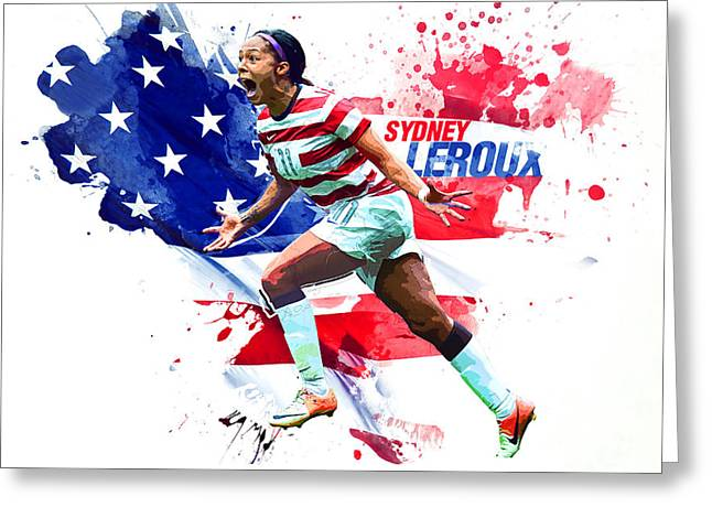 Sydney Leroux Greeting Card by Semih Yurdabak
