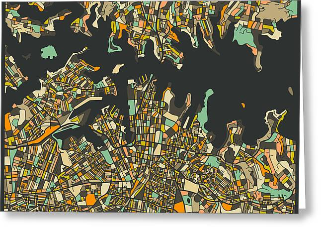 Sydney Map Greeting Card